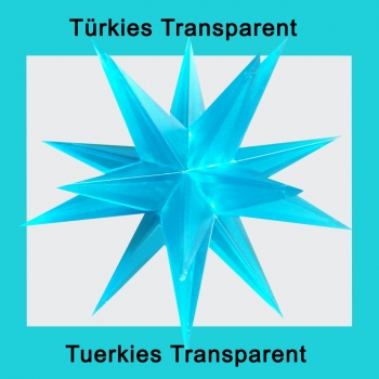 1 x Türkies Transparent - ohne Elektrik